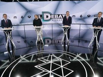 23A: El Debate Decisivo - La pregunta inicial de Pedro Sánchez, Albert Rivera, Pablo Casado y Pablo Iglesias