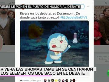 Rivera y Doraemon, Casado y Harvard, Sánchez y el Falcon e Iglesias y la astrología: los memes del debate de TVE