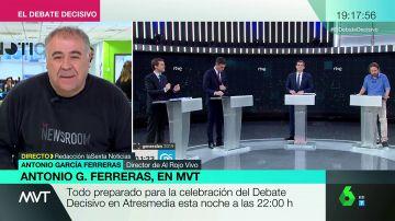 """Antonio G. Ferreras, sobre el Debate Decisivo: """"Cualquier equivocación o error determina el resultado electoral"""""""