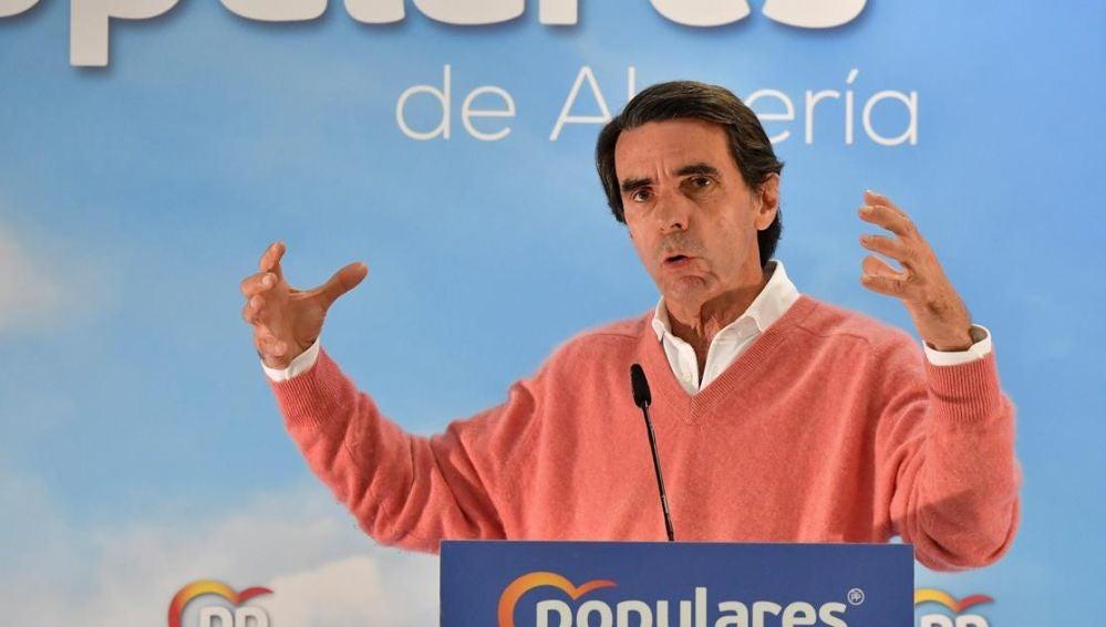 José María Aznar en un acto del PP