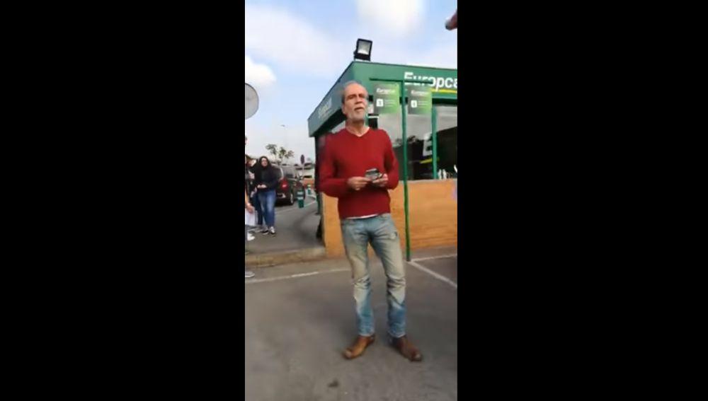 Momento del vídeo grabado por Alberto Casillas