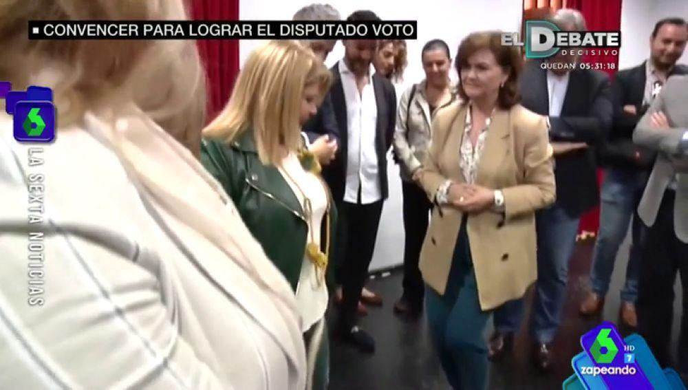 La vicepresidenta Carmen Calvo se arranca a bailar flamenco en su visita a Jerez de la Frontera
