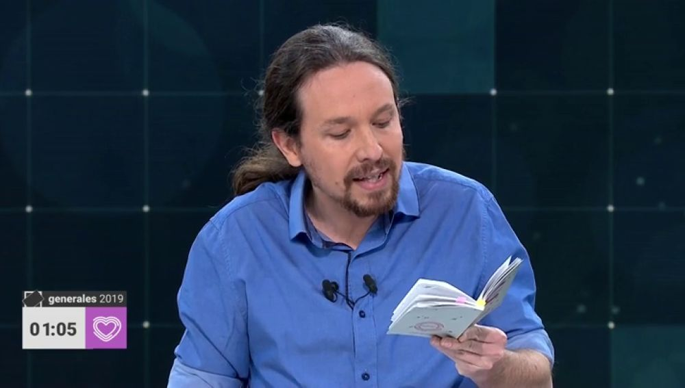 Debate TVE   Los artículos de la Constitución que ha leído Pablo Iglesias en el debate a cuatro