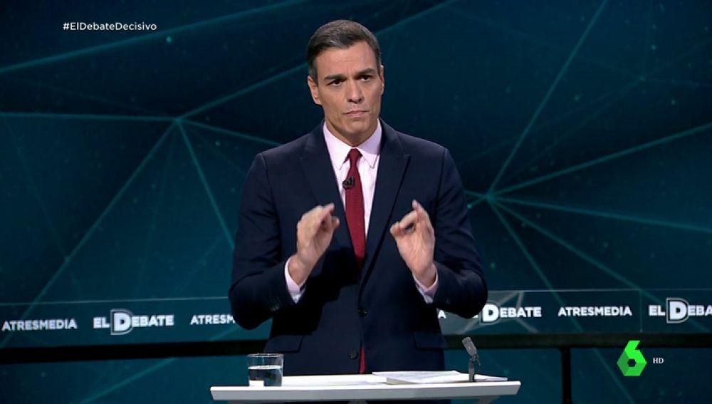 Pedro Sánchez en el Debate Decisivo