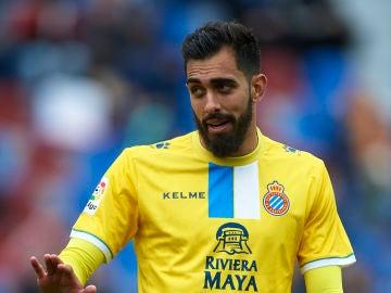 Borja Iglesias durante un partido con el Espanyol
