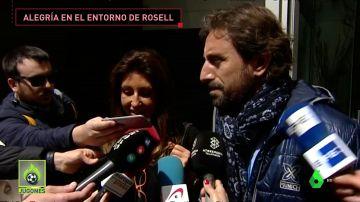 """La familia de Rosell, feliz con la absolución: """"Lo primero que he hecho ha sido saltar y abrazar a mi marido"""""""