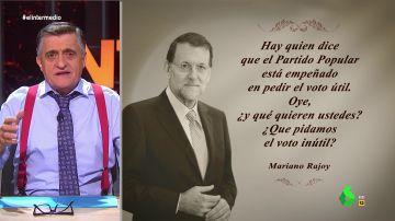 """Esta es la nueva """"cita célebre"""" de Mariano Rajoy sobre """"el voto inútil"""""""