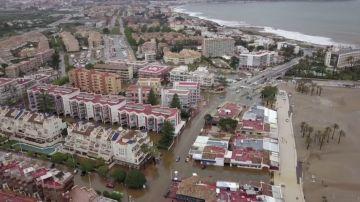 VÍDEO REEMPLAZO   Los terribles efectos del temporal en Xàbia, a vista de dron