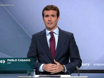 """Minuto de oro de Pablo Casado: """"Necesitamos unir el voto para no dividir a los españoles y para que no ganen los separatistas"""""""