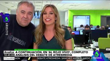 """""""Dormir es de cobardes"""": así ha sido la improvisada intervención de Ferreras en Arusitys tras el debate de Atresmedia"""