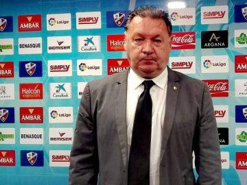 El presidente del Huesca, Agustín Lasaosa.