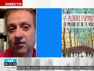 Albert Espinosa, autor de ficción más vendido de Sant Jordi con 'Lo mejor de ir es volver'