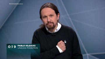 """El minuto de oro de Pablo Iglesias: """"Cuando la gente se mueve cambian cosas, lo demostraron las mujeres el 8 de marzo"""""""