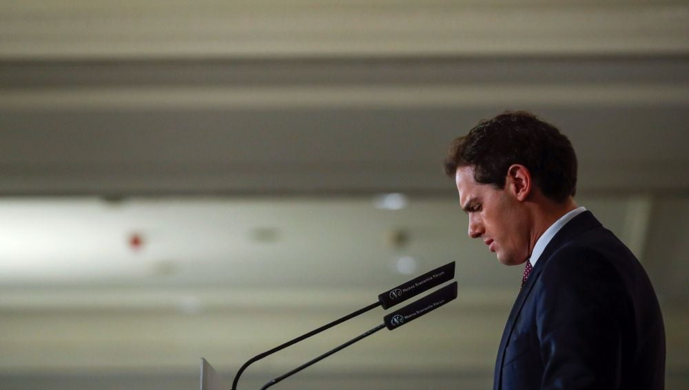 El candidato de Ciudadanos a la presidencia del Gobierno, Albert Rivera