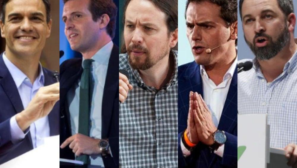 Los cinco candidatos