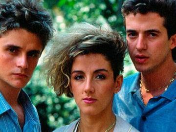 Ana Torroja, José María y Nacho Cano, los componentes de Mecano.
