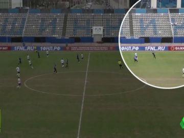 Un balonazo a un pájaro durante un partido en Rusia obliga a parar un partido