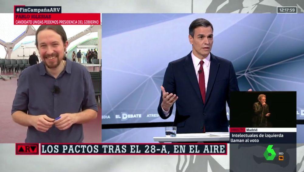El error de Pablo Iglesias que provocó su divertida anécdota con Pedro Sánchez fuera de cámaras en El Debate Decisivo