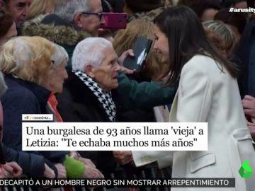 Una señora de Burgos sorprende a la reina Letizia