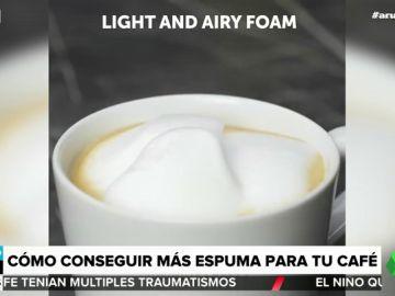 Cómo conseguir más espuma para tu café: así es el sencillo truco que conquista a Arusitys