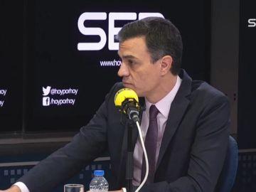 """Pedro Sánchez: """"No quiero que la gobernabilidad descanse en los independentistas"""""""