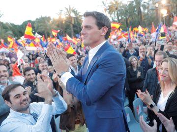 Albert Rivera en el acto de Ciudadanos en Valencia
