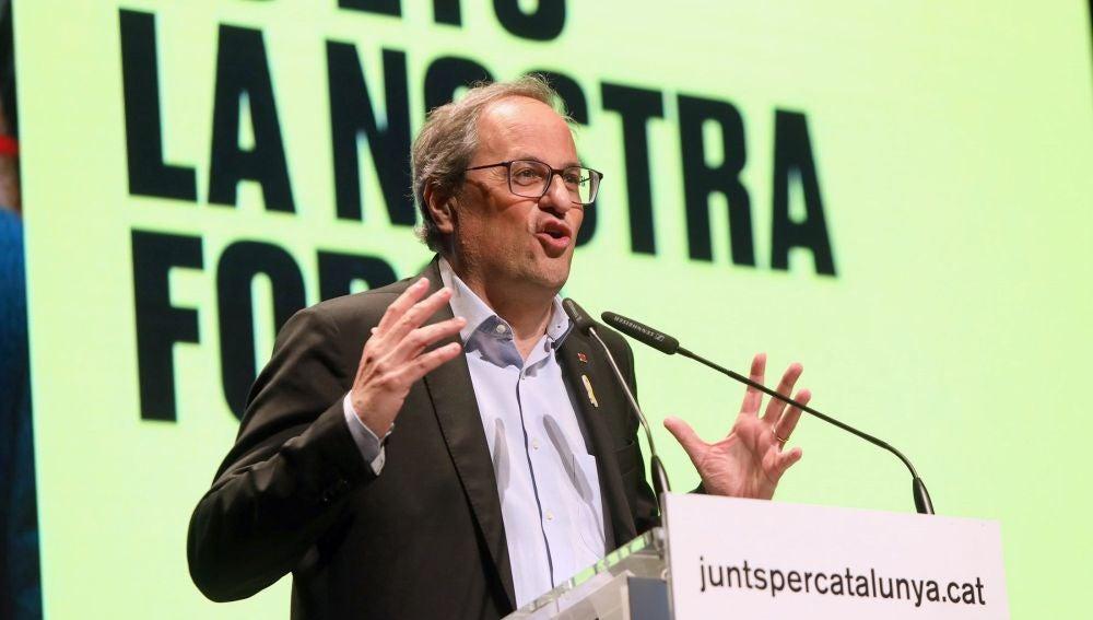 El presidente catalán, Quim Torra