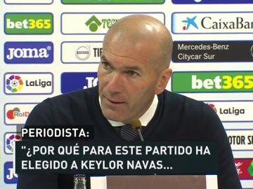 """El pique de Zidane con un periodista en rueda de prensa: """"Yo soy el entrenador, no tú"""""""