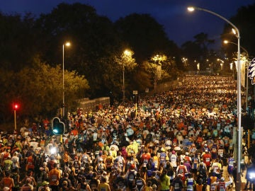 Corredores en una maratón