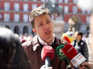 Íñigo Errejón,  candidato de Más Madrid.