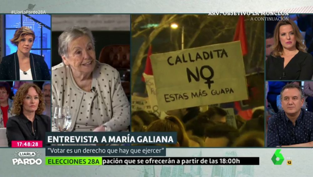 """La reivindicación feminista de María Galiana: """"Hay que pelear contra aquellas mujeres que les encanta ser esclavas"""""""