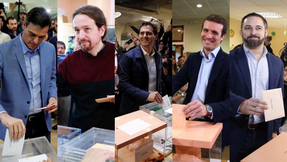 Los candidatos de los principales partidos acuden a votar