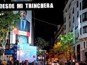 Sede del PP tras la derrota electoral