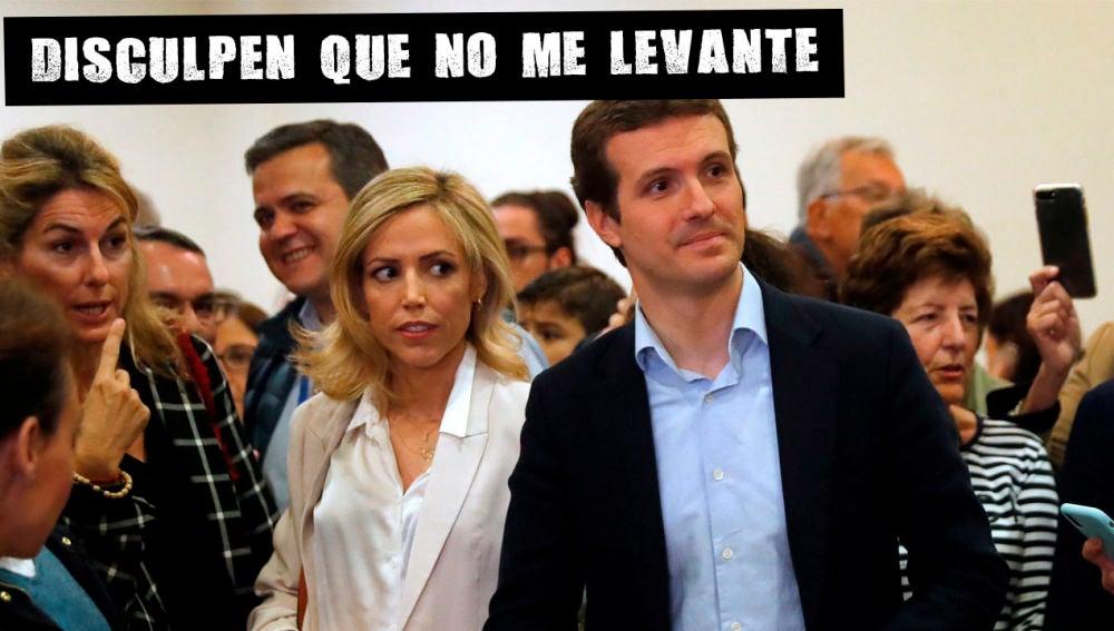 Pablo Casado en su colegio electoral