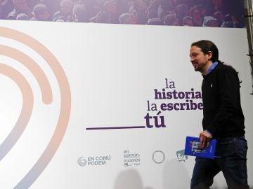 El candidato de Unidas Podemos, Pablo Iglesias