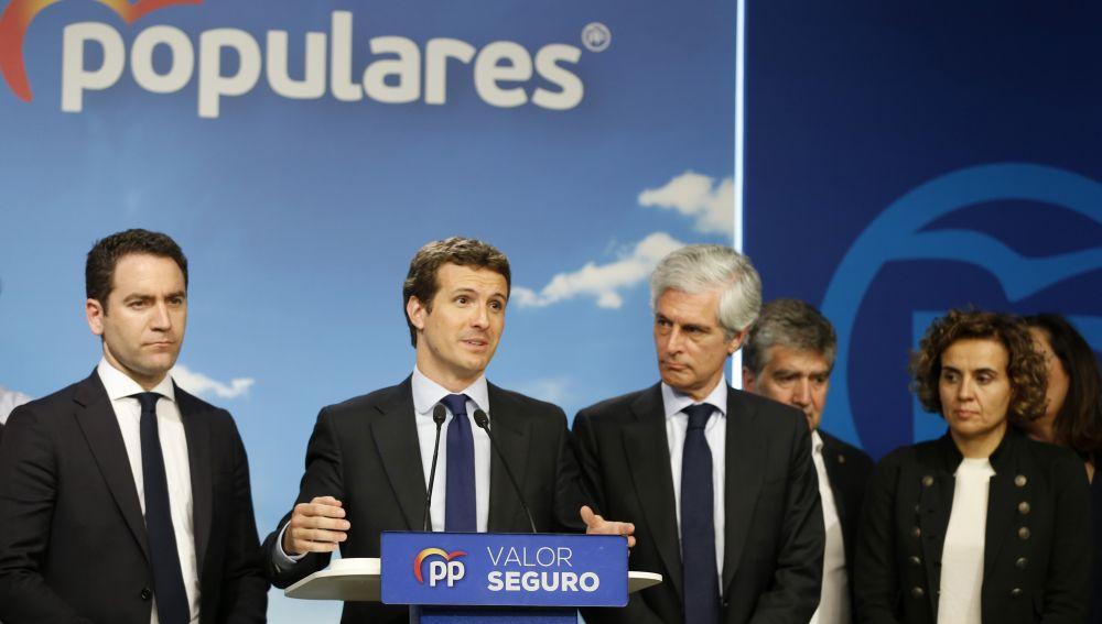 Pablo Casado habla tras los resultados electorales del 28A