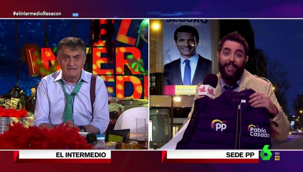 """Dani Mateo conecta desde Génova tras el batacazo electoral del PP: """"Han montado un mercadillo"""""""