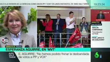 """Esperanza Aguirre: """"Muchos españoles no estamos de acuerdo con que Sánchez gobierne con los comunistas de Podemos"""""""