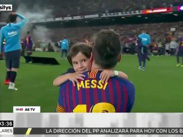 La viral celebración de los hijos de Messi tras la victoria del Barça en La Liga