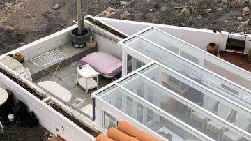 Vista de la vivienda familiar del presunto autor del asesinato de su mujer
