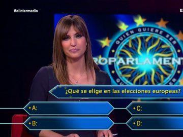 Sandra Sabatés se somete a un concurso con preguntas sobre las elecciones europeas, y deja muy claro para qué sirven