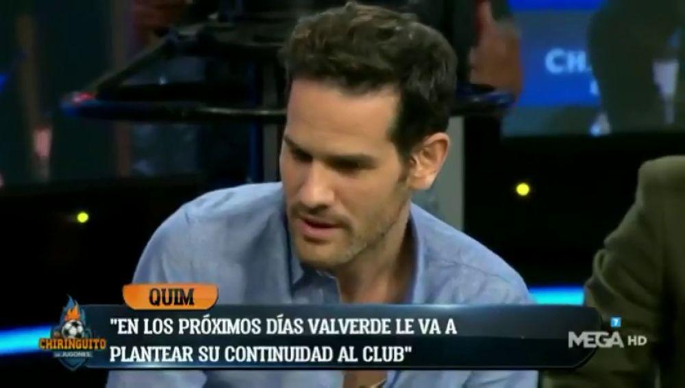 """Quim Domènech: """"Valverde planteará en los próximos días su continuidad al club"""""""