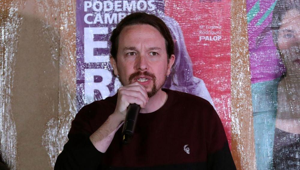 Pablo Iglesias, en el arranque de campaña del 26M