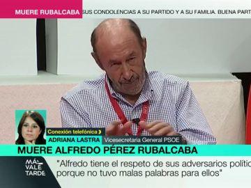 Adriana Lastra habla en MVT de Alfredo Pérez Rubalcaba