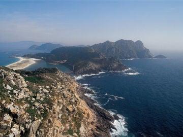 Vista aérea Islas Cíes