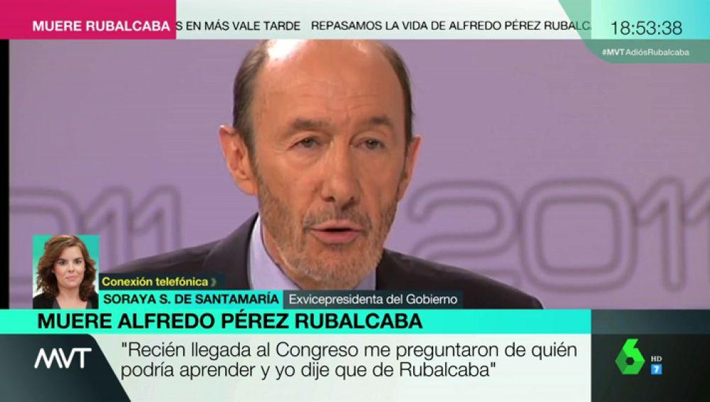 Soraya Sáenz de Santamaría habla de Rubalcaba