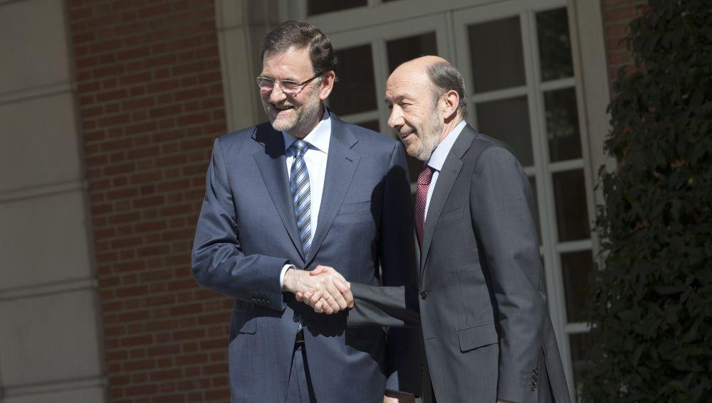 Mariano Rajoy y Alfredo Pérez Rubalcaba