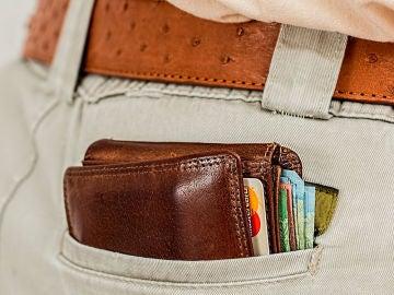 Cartera con tarjetas de crédito