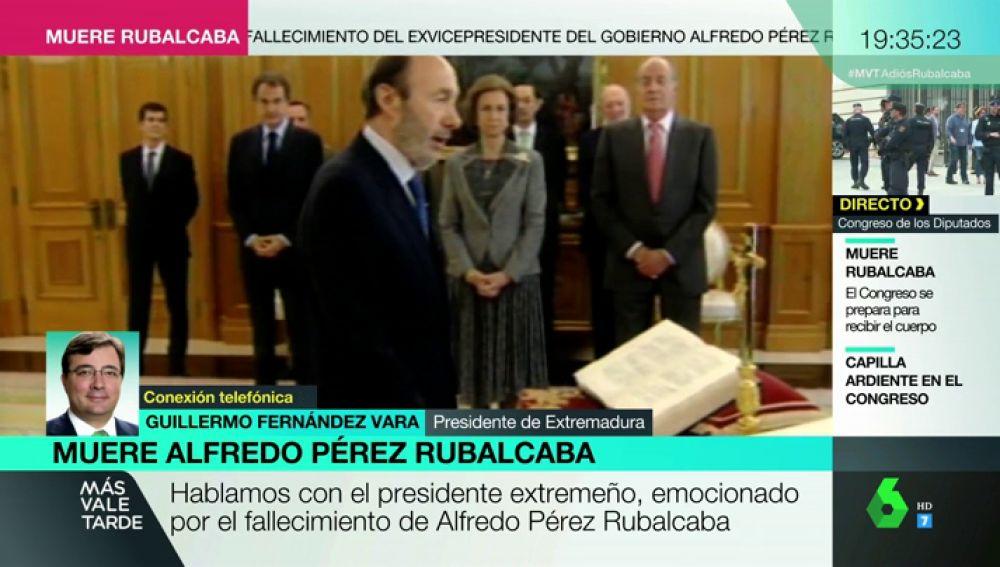 Guillermo Fernández Vara habla de Rubalcaba