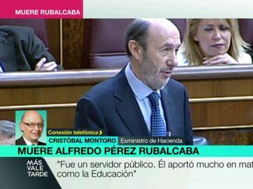 Cristóbal Montoro habla de Alfredo Pérez Rubalcaba